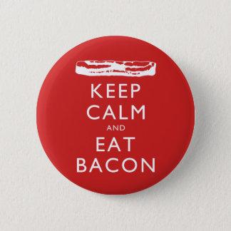 Bóton Redondo 5.08cm Mantenha calmo e coma o bacon