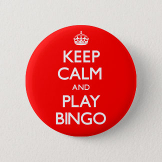 Bóton Redondo 5.08cm Mantenha o Bingo da calma e do jogo (continue)