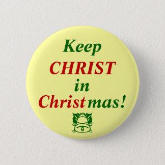 Bóton Redondo 5.08cm Mantenha o CRISTO no Natal!