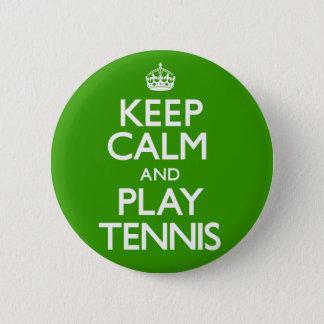 Bóton Redondo 5.08cm Mantenha o tênis da calma e do jogo (continue)