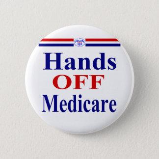 Bóton Redondo 5.08cm Mãos fora de Medicare