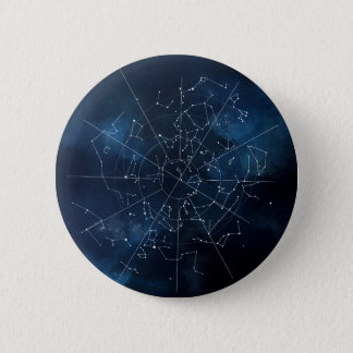 Bóton Redondo 5.08cm Mapa celestial