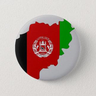 Bóton Redondo 5.08cm Mapa da bandeira de Afeganistão
