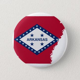 Bóton Redondo 5.08cm Mapa da bandeira de Arkansas