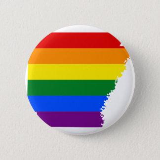 Bóton Redondo 5.08cm Mapa da bandeira de Arkansas LGBT