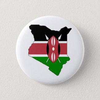 Bóton Redondo 5.08cm Mapa da bandeira de Kenya sem redução
