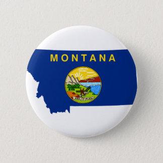 Bóton Redondo 5.08cm Mapa da bandeira de Montana