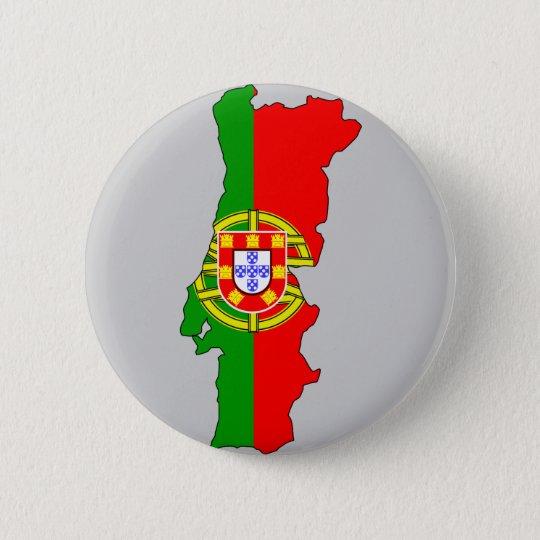 Mapa De Portugal Com Estados E Formas Redondas Modernas Ilustracao