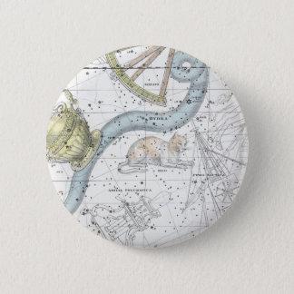 Bóton Redondo 5.08cm Mapa da placa XXVI das constelações
