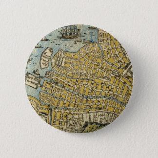 Bóton Redondo 5.08cm Mapa de Nagasaki