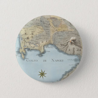 Bóton Redondo 5.08cm Mapa do golfo de Nápoles e de arredores