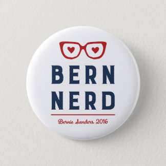 Bóton Redondo 5.08cm Máquinas de lixar de Bernie para o nerd engraçado