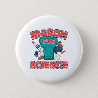 Bóton Redondo 5.08cm Março para a ciência