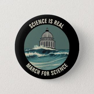 Bóton Redondo 5.08cm Março para a elevação do nível do mar da ciência