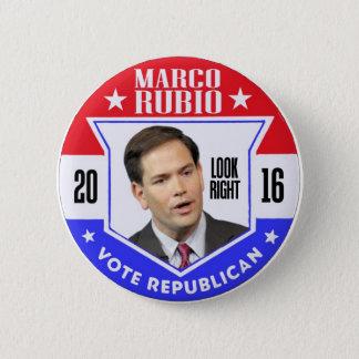 Bóton Redondo 5.08cm Marco Rubio para o presidente 2016