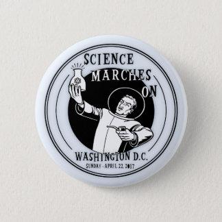 Bóton Redondo 5.08cm Marços da ciência sobre