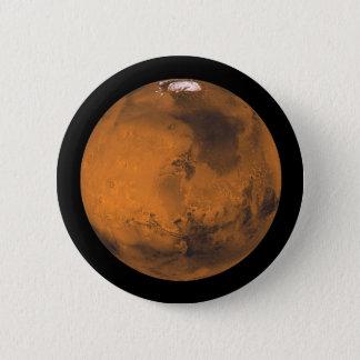 Bóton Redondo 5.08cm Marte o planeta vermelho no espaço