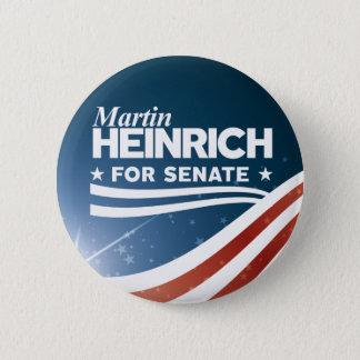Bóton Redondo 5.08cm Martin Heinrich para o Senado