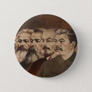 Bóton Redondo 5.08cm Marx, Engels, Lenin, e Stalin