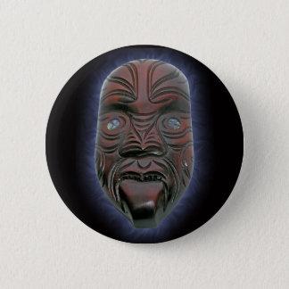 Bóton Redondo 5.08cm Máscara cinzelada maori - botão