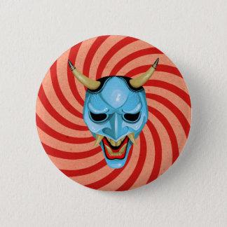 Bóton Redondo 5.08cm Máscara de Oni do japonês