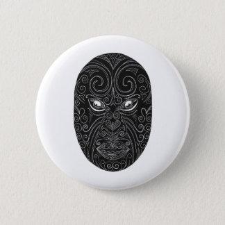 Bóton Redondo 5.08cm Máscara maori Scratchboard