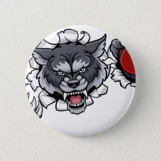 Bóton Redondo 5.08cm Mascote do grilo do lobo que quebra o fundo