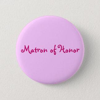 Bóton Redondo 5.08cm Matrona do botão da honra