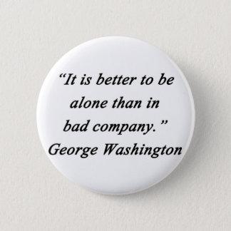 Bóton Redondo 5.08cm Mau Empresa - George Washington