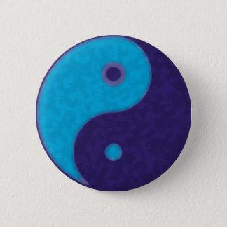 Bóton Redondo 5.08cm meditação tao do zen de yang do yin