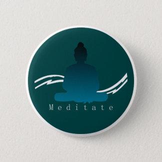 """Bóton Redondo 5.08cm """"Meditate"""" Buddha. bonito"""