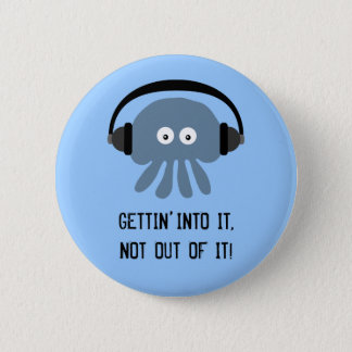 Bóton Redondo 5.08cm Medusa & fones de ouvido azuis GETTING NELE crachá