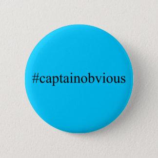 Bóton Redondo 5.08cm Meios do capitão Óbvio Hashtag Engraçado Social