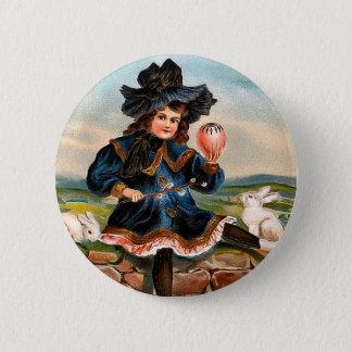 Bóton Redondo 5.08cm Menina da páscoa do vintage e botão redondo dos