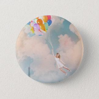 Bóton Redondo 5.08cm Menina do balão