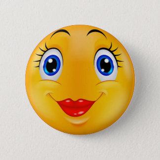 Bóton Redondo 5.08cm Menina do sorriso