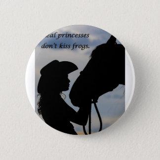 Bóton Redondo 5.08cm Menina que beija o cavalo