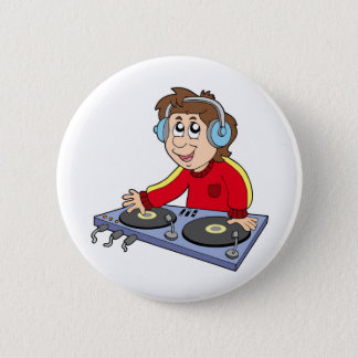 Bóton Redondo 5.08cm Menino do DJ dos desenhos animados