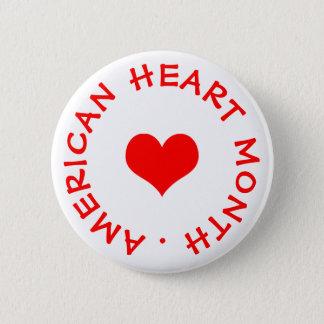Bóton Redondo 5.08cm Mês americano do coração