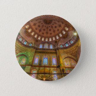 Bóton Redondo 5.08cm Mesquita azul Istambul