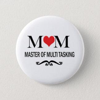 Bóton Redondo 5.08cm Mestre da mamã do multi botão de Tasking para mães