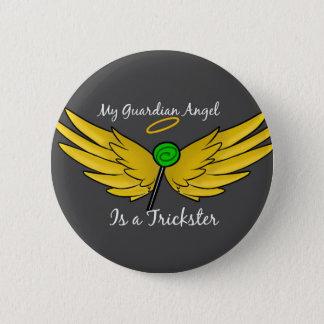 """Bóton Redondo 5.08cm """"Meu anjo-da-guarda é botão de Gabriel de um"""