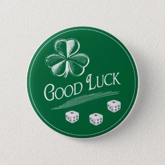 Bóton Redondo 5.08cm Meu botão de Bunco da boa sorte