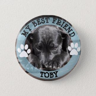 Bóton Redondo 5.08cm Meu melhor amigo, botão da foto do cão de