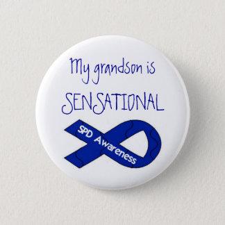 Bóton Redondo 5.08cm Meu neto é botão SENSACIONAL da consciência do SPD