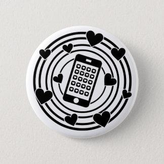 Bóton Redondo 5.08cm Meu telefone é o centro de meu universo!