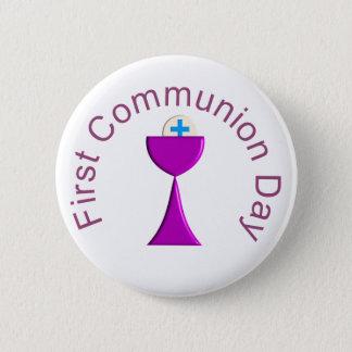 Bóton Redondo 5.08cm Meus primeiros botões do comunhão santamente