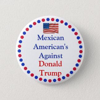 Bóton Redondo 5.08cm Méxicos-americano contra o botão de Donald Trump