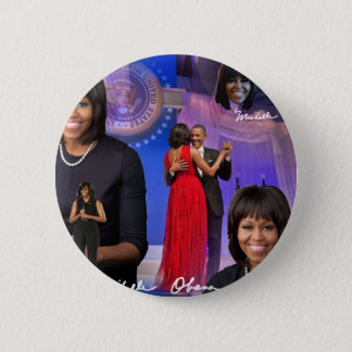 Bóton Redondo 5.08cm Michelle Obama