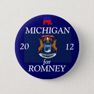 Bóton Redondo 5.08cm Michigan para Romney 2012